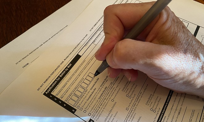 Under Texas' Republican-authored voting legislation, people who apply to vote by mail can have their applications rejected if they incorrectly remember which kind of ID number the state already has on file for them. - SANFORD NOWLIN