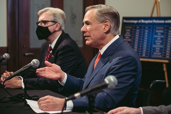 Texas Gov. Greg Abbott speaks at a news conference. - COURTESY PHOTO / OFFICE OF THE GOVERNOR