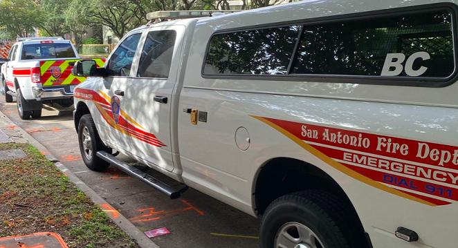 San Antonio Fire Department vehicles respond to an emergency call last year. - FACEBOOK / SAN ANTONIO FIRE DEPARTMENT