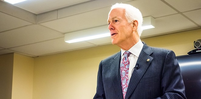 Republican Sen. John Cornyn said he doesn't want the feds to legalize cannabis because he's concerned about the opioid epidemic. Did anyone tell him pot isn't an opioid? - SHUTTERSTOCK