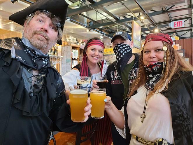 A team of pirates enjoys some refreshments. - COURTESY OF CITY SCAVENGER