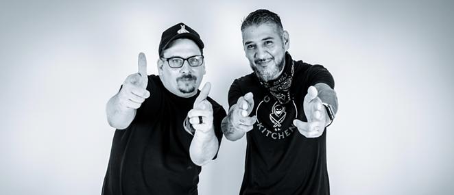 Chefs Paprocki (L) and Cruz will open Gunslingers next week. - FERNANDO ORTEGA FOR GUNSLINGERS