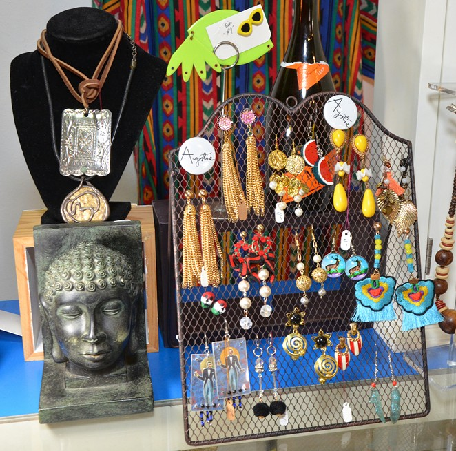 Reconfigured accessories are among Cuellar's top sellers at Augustine. - BRYAN RINDFUSS