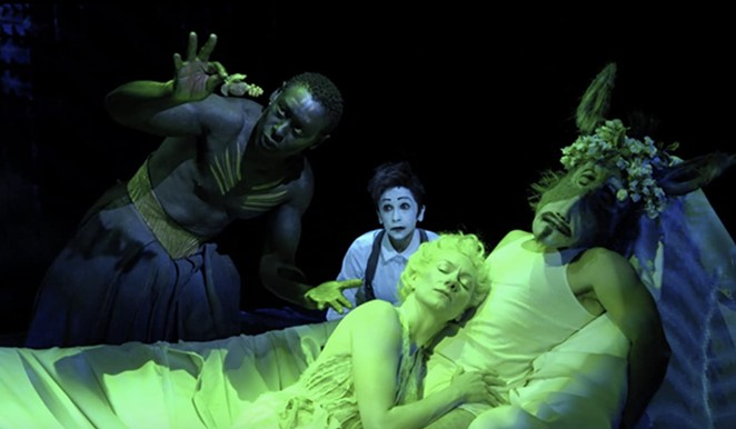 The film is a live recording of Julie Taymor's sold out stage production of Shakespeare's A Midsummer Night's Dream. - BOND 360