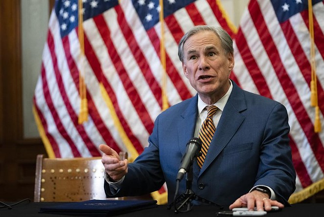 """After outlawing abortion in the state, Texas Gov. Greg Abbott said that Texans should have """"right to choose"""" not to get vaccinated. - TEXAS TRIBUNE / SOPHIE PARK"""