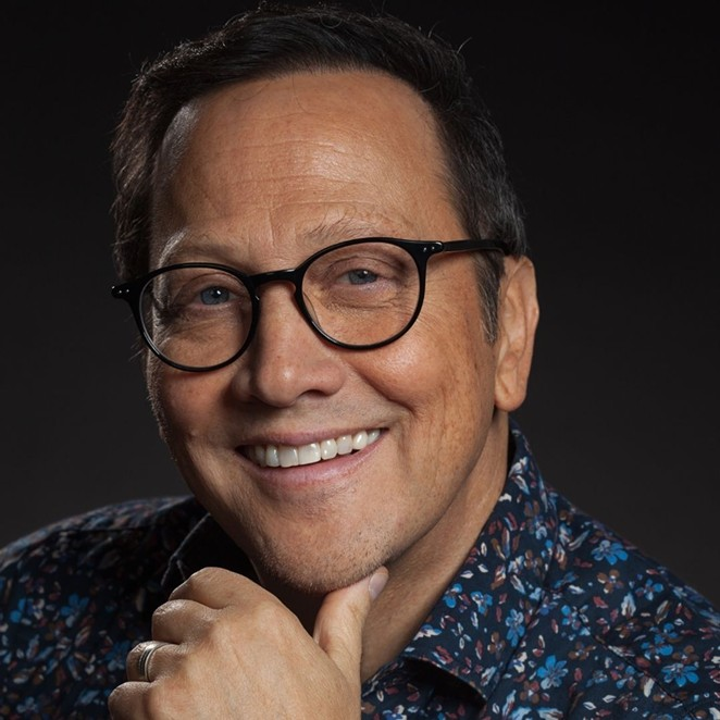 Rob Schneider is taking a break from tweeting COVID-19 misinformation to do stand-up at the AT&T Center in San Antonio. - COURTESY OF AT&T CENTER