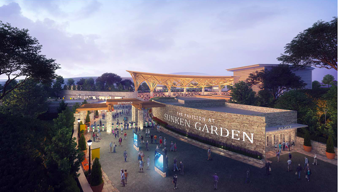 Proposed upgrades to the outdoor venue include a new entrance, pictured in this rendering. - COURTESY IMAGE / OJT ARCHITECTS