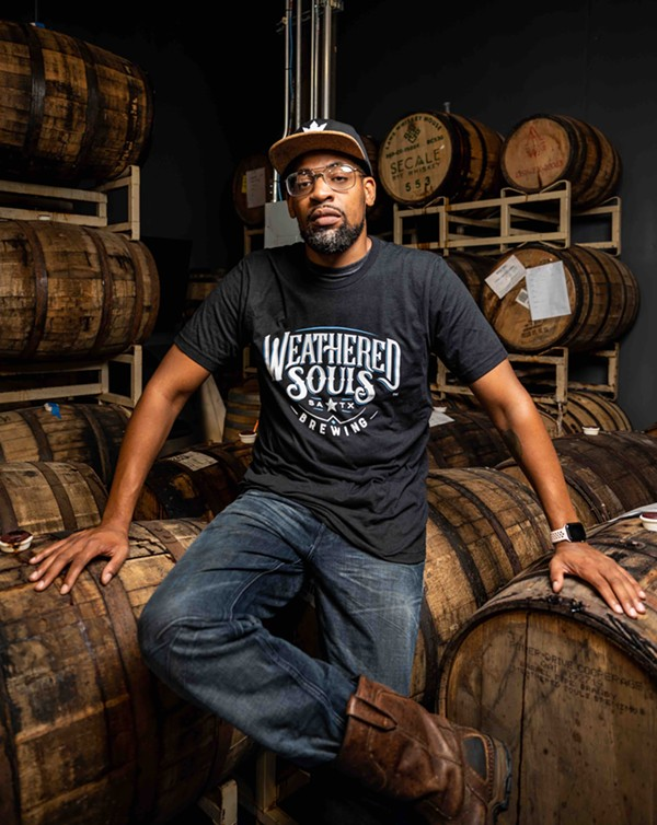 Marcus Baskerville, co-founder of Weathered Souls Brewing Company. - JAIME MONZON