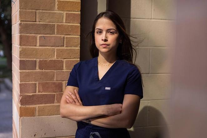 Maria Manzanilla, an ICU nurse at University Hospital in San Antonio, has mainly treated COVID-19 patients since the pandemic began. - TEXAS TRIBUNE / MICHAEL GONZALEZ