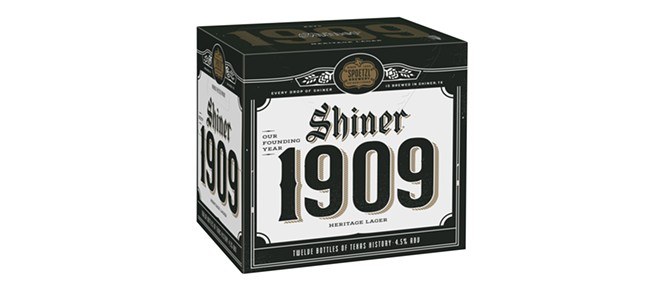 Shiner Beer's new Shiner 1909 lager is available now. - PHOTO COURTESY SHINER BEER