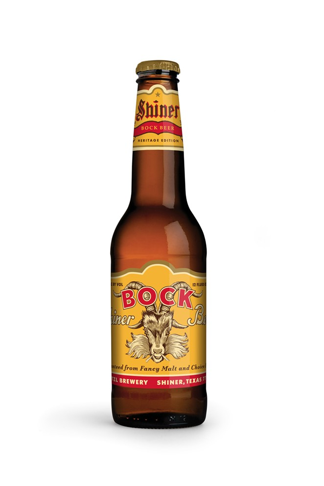 Shiner Bock Heritage Edition packs feature label designs from different decades of Shiner's past. - PHOTO COURTESY SHINER BEER