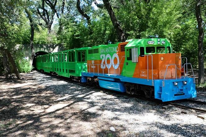 The first new San Antonio Zoo train is now in operation. - PHOTO COURTESY SAN ANTONIO ZOO