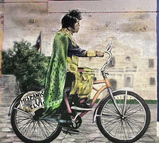 "San Antonio artist Colton Valentine pays tribute to the SA character known as ""Hispanic Elvis."" - INSTAGRAM / COLTON_VALENTINE_"
