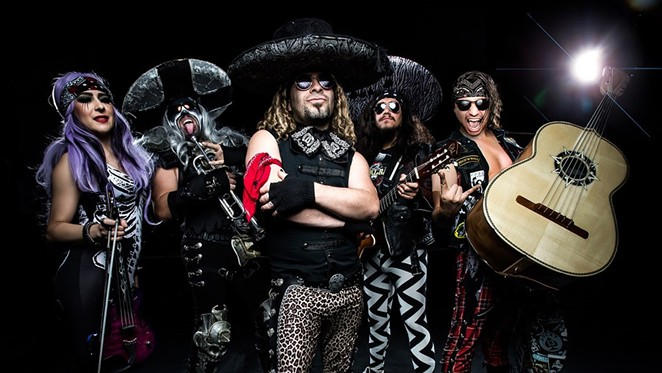 Metalachi's oddball combo of metal and mariachi brings all the metalheads from the barrio together. - COURTESY PHOTO / METALACHI