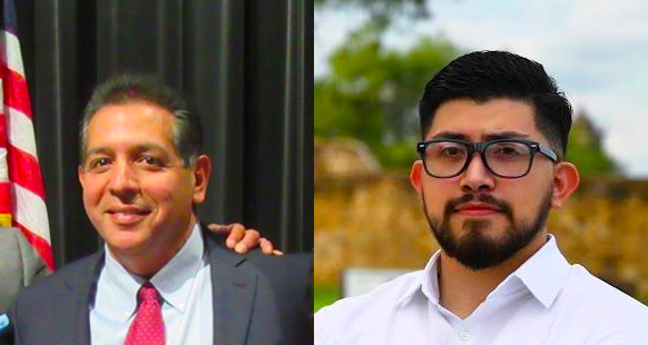 Republican John Lujan (left) and Democrat Frank Ramirez (right) are headed to a runoff to represent the South Bexar County Texas House district formerly held by Democrat Leo Pacheco. - FACEBOOK / JOHN LUJAN (LEFT) AND FRANK RAMIREZ (RIGHT)