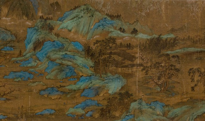 Detail from Peach Blossom Spring, China, ca. 1662-1722, Handscroll with ink and colors on silk, painting: 12 in. x 106 in.; San Antonio Museum of Art, gift of Robert K. Winn, 64.291.97. - COURTESY OF SAN ANTONIO MUSEUM OF ART