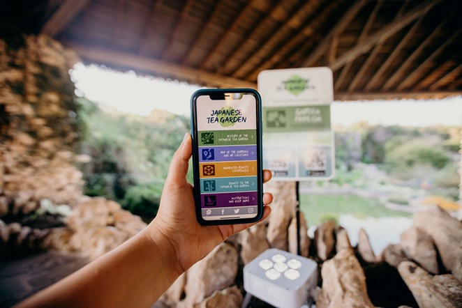 The new augmented reality app gives visitors a deeper look into the Japanese Tea Garden's history. - COURTESY OF SAN ANTONIO PARKS FOUNDATION / ALEJANDRA SOL CASAS
