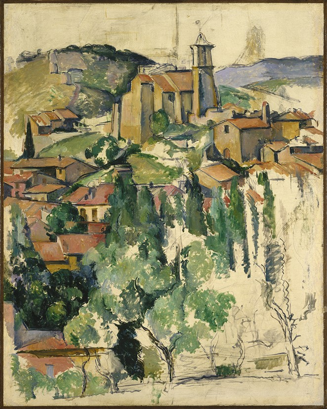 PAUL CÉZANNE, THE VILLAGE OF GARDANNE. BROOKLYN MUSEUM, ELLA C. WOODWARD MEMORIAL FUND AND ALFRED T. WHITE FUND, 23.105. (PHOTO: BROOKLYN MUSEUM)