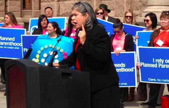 Rep. Farrar at a Planned Parenthood rally at the Texas Capiotl - FACEBOOK VIA REP. JESSICA FARRAR