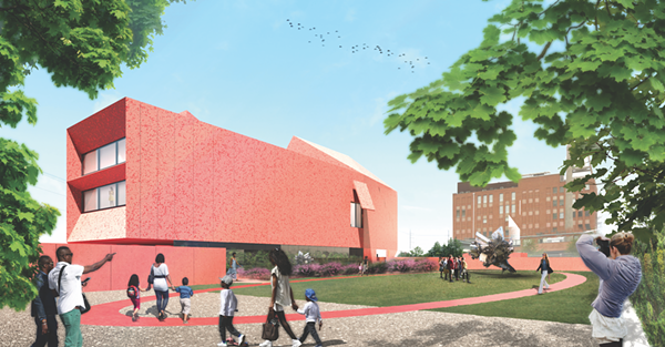 Rendering of the Linda Pace Foundation's Ruby City (courtesy of Adjaye Associates)