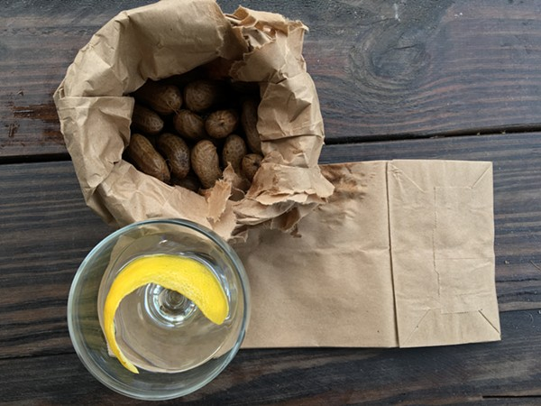 A bag of boiled peanuts from Lowcountry. - JESSICA ELIZARRARAS