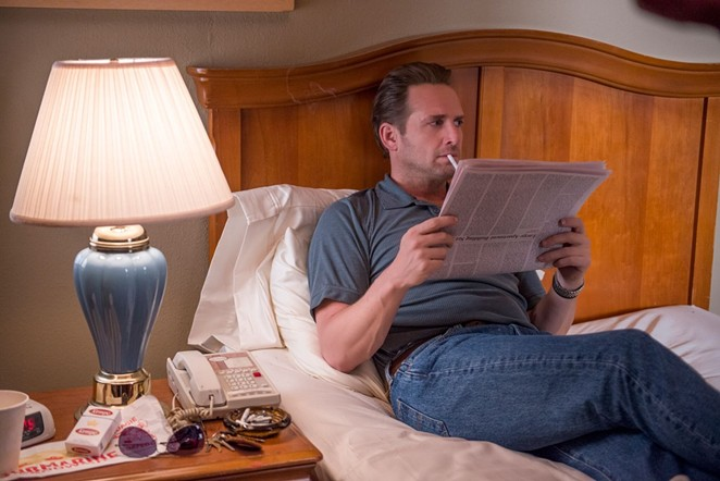 Actor Josh Lucas portrays ex-con David Waters, the man charged with the 1995 murder of atheist Madalyn Murray O'Hair in San Antonio, Texas. - NETFLIX