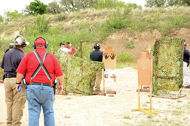 "One of six border patrol-themed shooting courses. This one was called  ""Looking for Well-Armed Coyotes Along the Trail."" - ALEX ZIELINSKI"