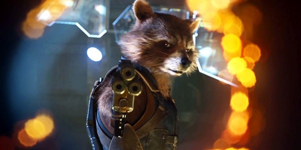 BRADLEY COOPER VOICES ROCKET THE CYBORG RACCOON IN GUARDIANS OF THE GALAXY 2