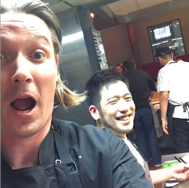 When he's not hosting Seattle's Shota Nakajima, Dady's busy signing leases -  INSTAGRAM/CHEFJASONDADY