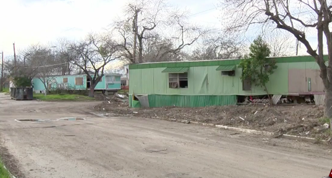 The now-abandoned Mission Trails mobile home park - KSAT, SCREENSHOT