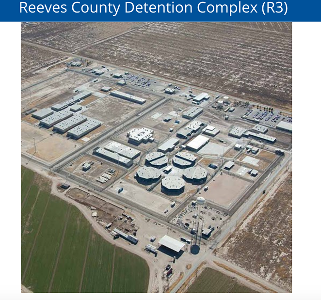 Reeves County Detention Center - SCREENSHOT, GEOGROUP.COM