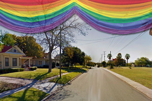 A Gay Pride Flash Mob Dance will be held on Saturday, May 27 in Dignowity Park across the street from the mayor's house.