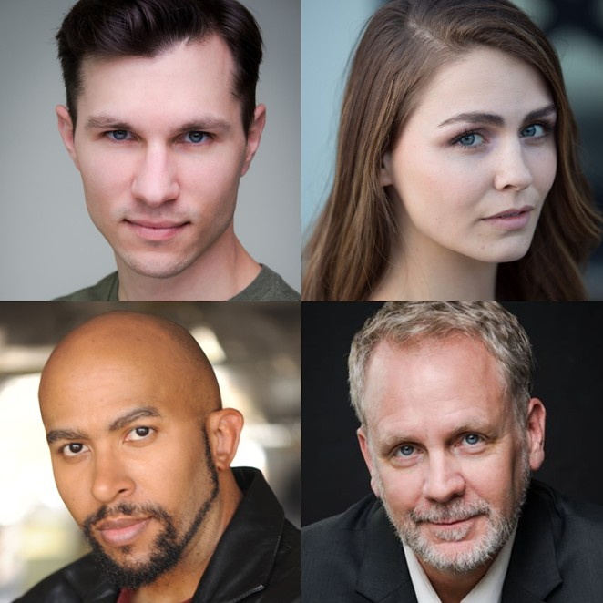 9 CIRCLES CAST MEMBERS ZACH LEWIS, MAKENZIE JENÉ, TORENCE B. WHITE AND ANDREW THORNTON