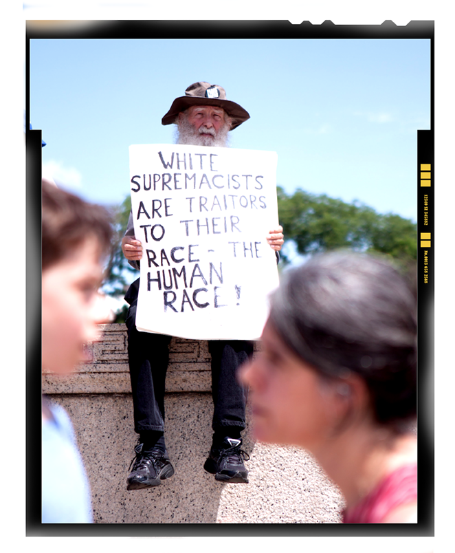 Counter-protester at an alt-right rally in Washington, D.C.