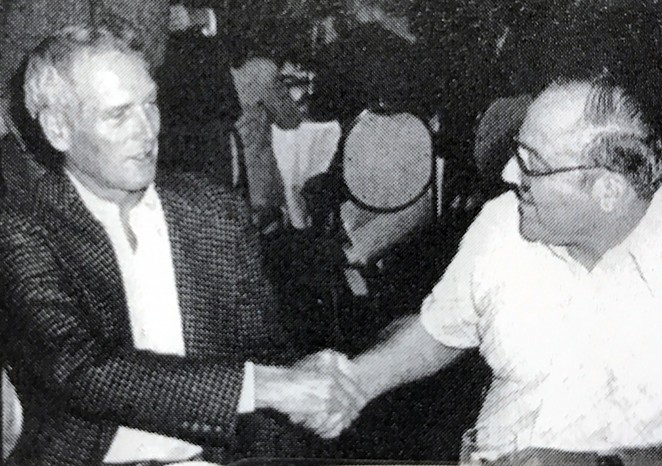 Polunsky meeting Paul Newman. - FLICKER FOOTNOTES