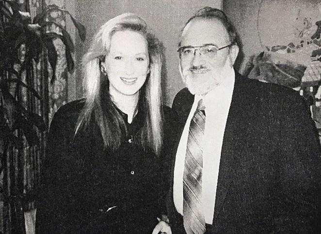 Polunsky with actress Meryl Streep. - FLICKER FOOTNOTOES