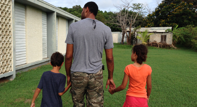 Tim Duncan recently took his two children to visit his hometown, St. Croix. - PHOTO VIA THE PLAYERS' TRIBUNE, COURTESY OF TIM DUNCAN