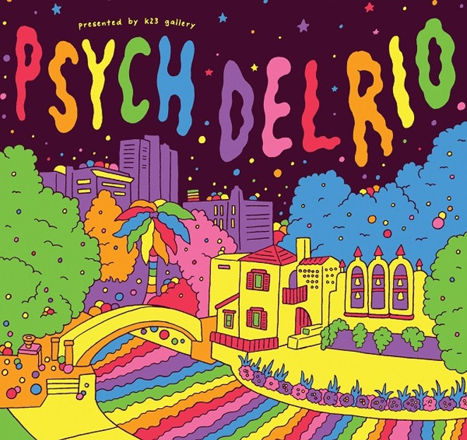 THIS, AND ALL THE RAD PSYCH DEL RIO ART, WAS CREATED BY LA ARTIST RAMIN NAZER.
