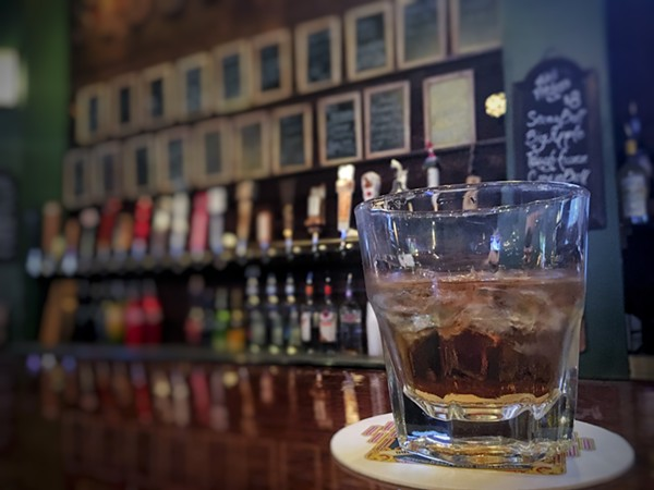 Well whiskey and tap line at Stout House - ERIN W,