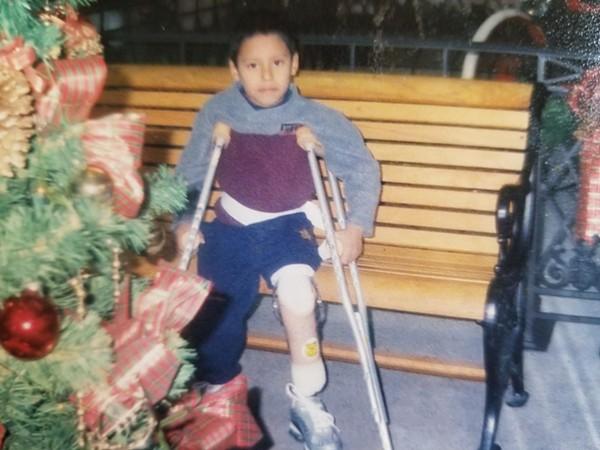 Abonza-Lopez as a child. - RAICES