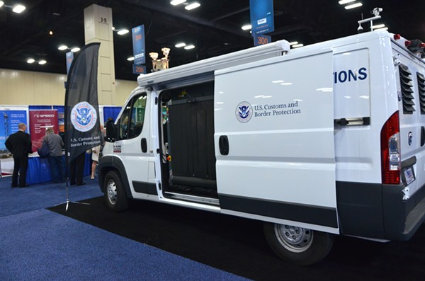 A Border Patrol van on display at the Expo. - ALEX ZIELINSKI