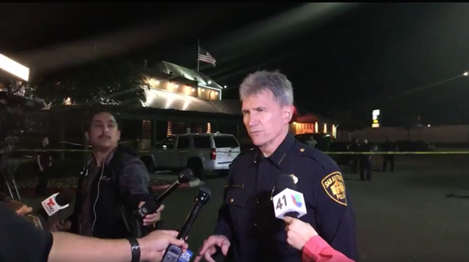 SAPD Chief William McManus at the scene. - FACEBOOK   SAN ANTONIO POLICE DEPARTMENT