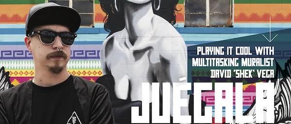 """Playing it Cool with Multitasking Muralist David """"Shek"""" Vega"""