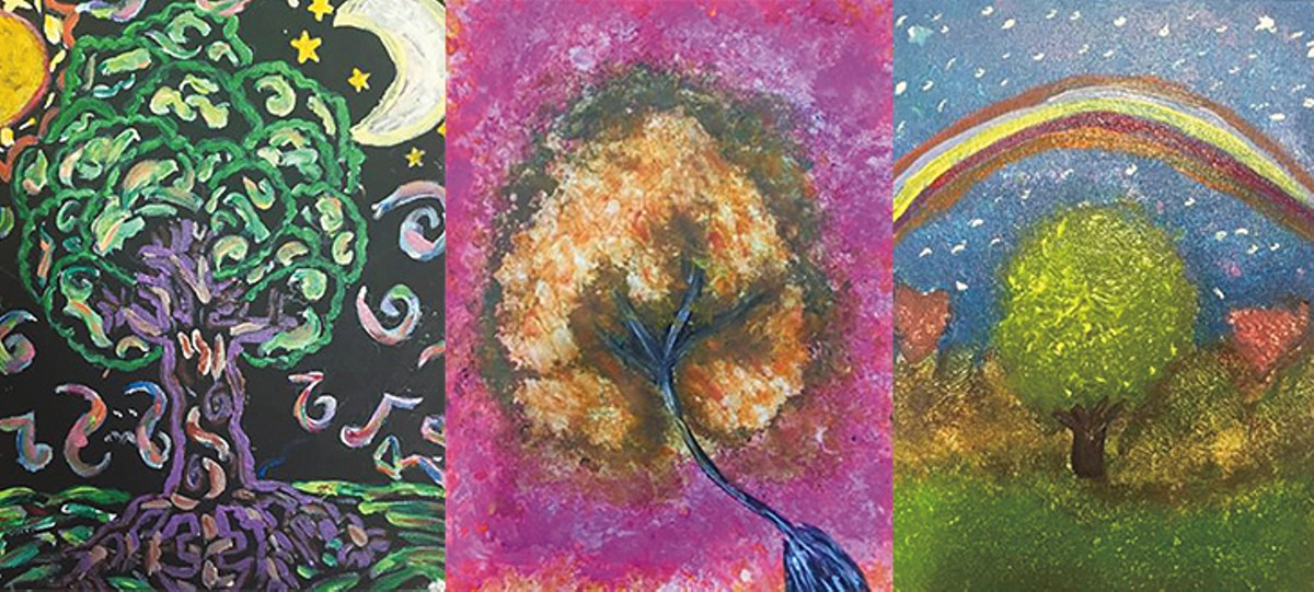 Paintings by kids in the Migrant     Children's Project