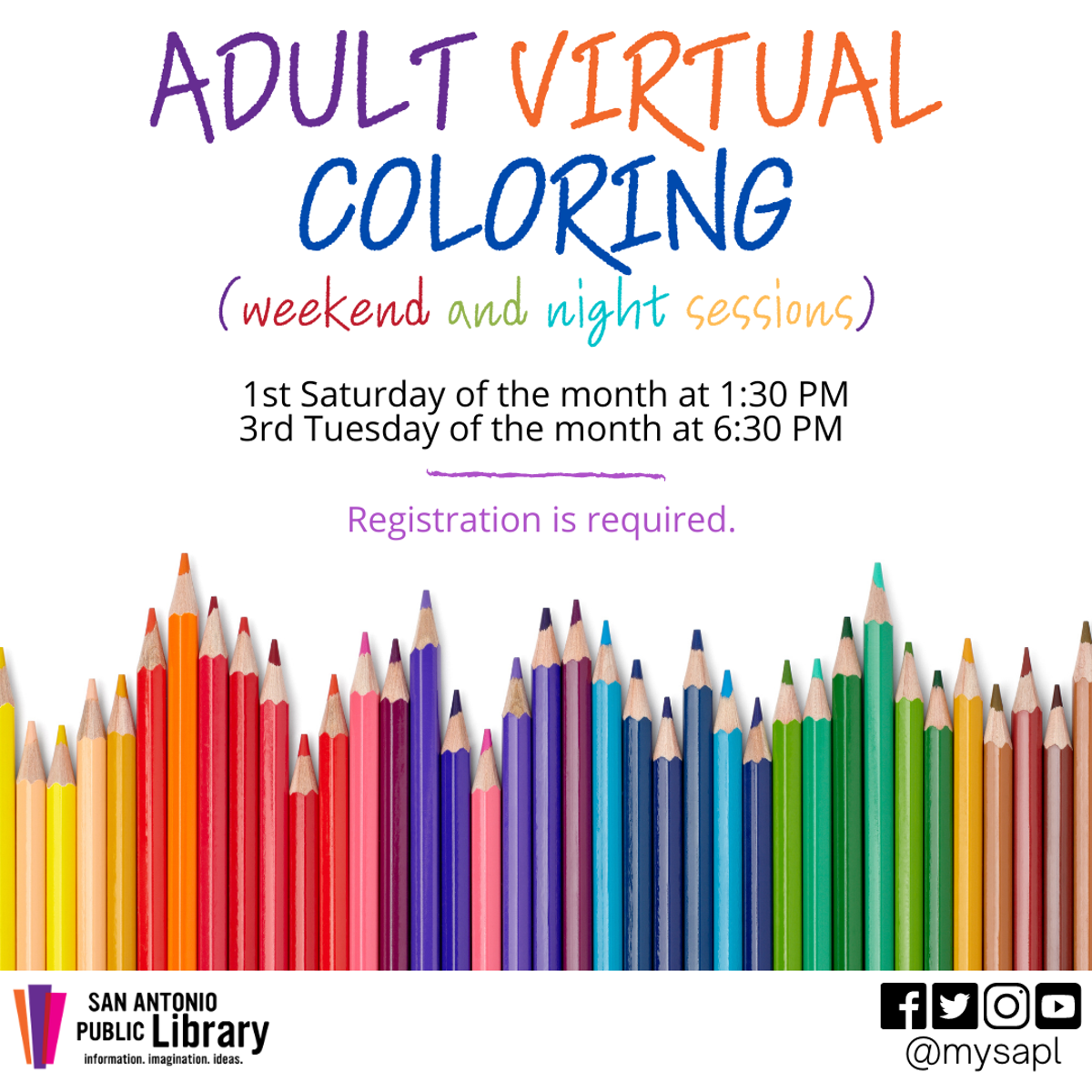 Adult Virtual Coloring (weekend and night sessions)