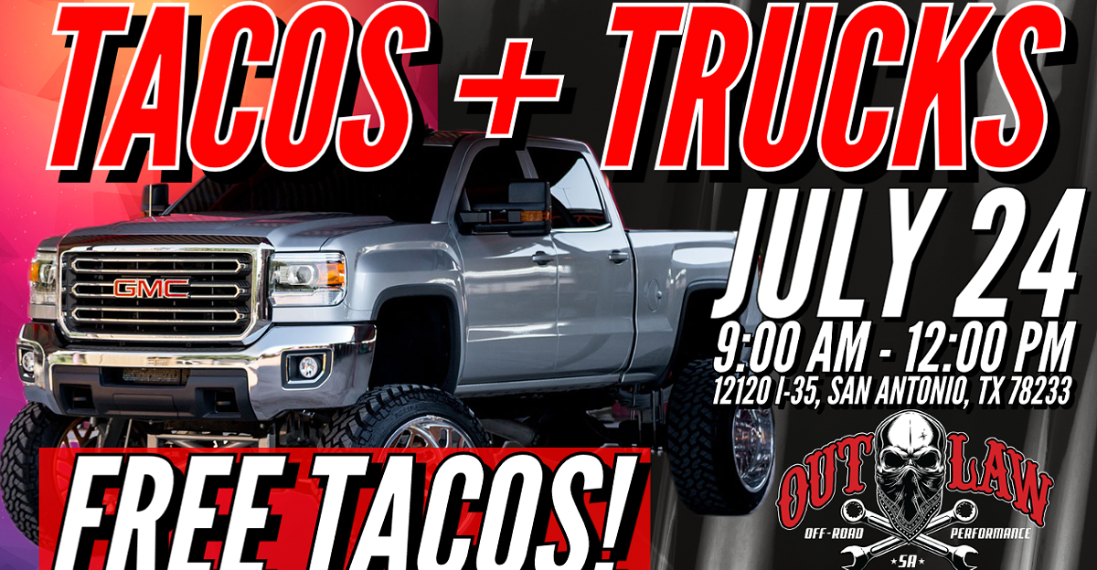 FREE TACOS, Awesome TRUCKS
