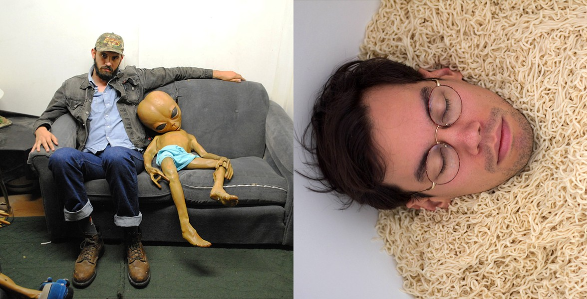 Andrew Weathers, left, and Noodleboy, obviously right - COURTESY
