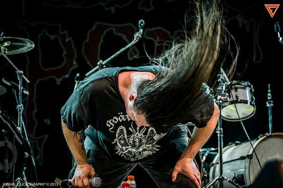 This is what Cannibal Corpse's brand of headbanging looks like. - VIA CANNIBAL CORPSE'S FACEBOOK