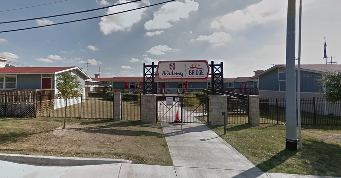 The schools are located in the same space as Morgan's Wonderland. - GOOGLE MAPS