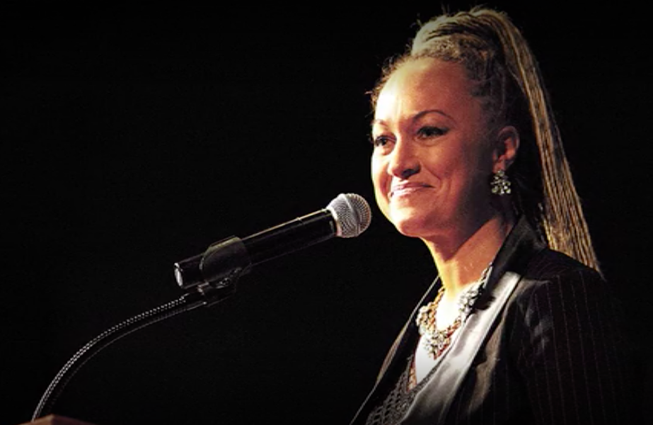 Rachel Dolezal, the subject of the documentary The Rachel Divide, lied about her European heritage and served as Spokane President for the NAACP. - NETFLIX / THE RACHEL DIVIDE